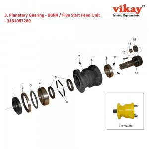 Planetary Gearing Atlas Copco Wagon Drill Parts