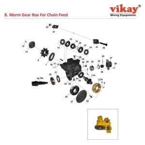 Worm Gear Box Compl. Wagon Drill Parts