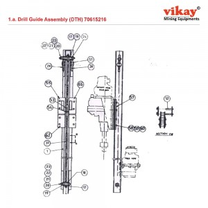 Drill Guide Assembly DTH 70615216 LM 100 Parts