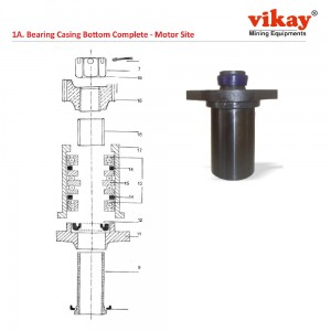 Bearing Casing Bottom Complete  Motor Side Replacement