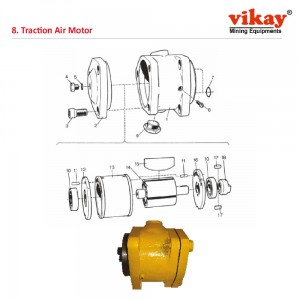 Traction Air Motor Atlas Copco Cavo 310 Parts