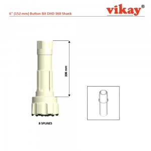 "6"" (152 mm) Button Bit DHD 360 Shank"